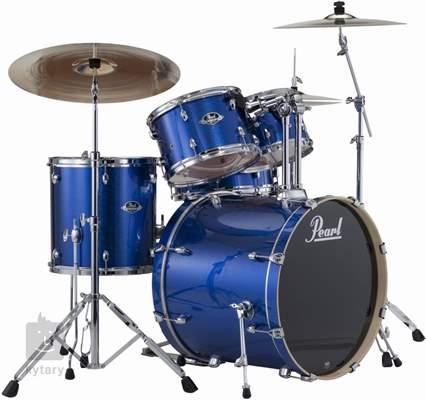 PEARL Export Studio set Electric blue sparkle Bicí souprava s činely