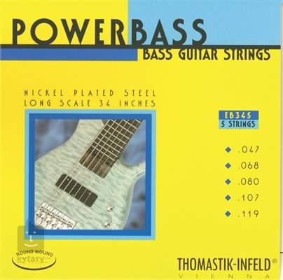 THOMASTIK EB345 Struny pro pětistrunnou baskytaru