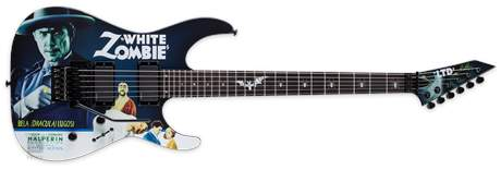 ESP LTD Kirk Hammett  White Zombie Graphic Elektrická kytara