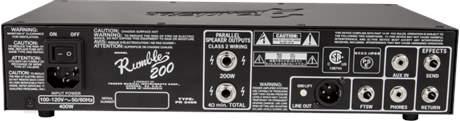 FENDER Rumble 200 Head Baskytarový tranzistorový zesilovač
