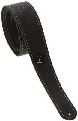 FENDER Monogram Leather Strap, Black Kytarový popruh