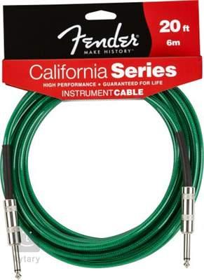 FENDER California Cable 20' Surf Green Nástrojový kabel
