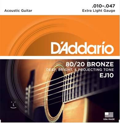 D'ADDARIO EJ10 Kovové struny pro akustickou kytaru