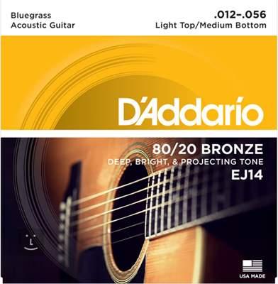 D'ADDARIO EJ14 Kovové struny pro akustickou kytaru