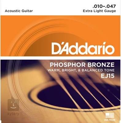 D'ADDARIO EJ15 Kovové struny pro akustickou kytaru