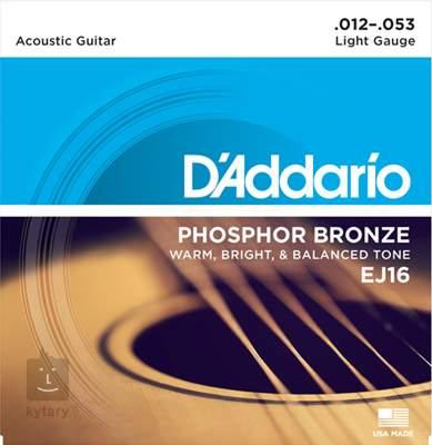 D'ADDARIO EJ16 Kovové struny pro akustickou kytaru