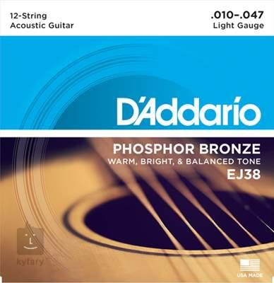 D'ADDARIO EJ38 Struny pro dvanáctistrunnou kytaru