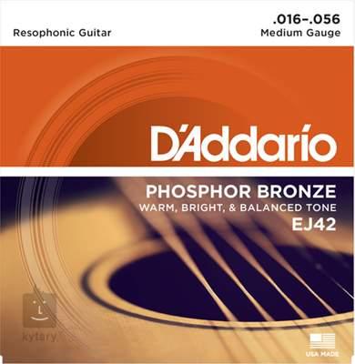 D'ADDARIO EJ42 Kovové struny pro resonator