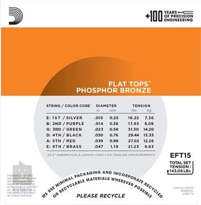 D'ADDARIO EFT15 Kovové struny pro akustickou kytaru