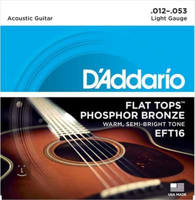 D'ADDARIO EFT16  Kovové struny pro akustickou kytaru