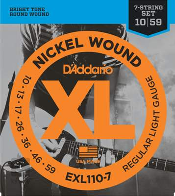 D'ADDARIO EXL110-7 Struny pro sedmistrunnou elektrickou kytaru