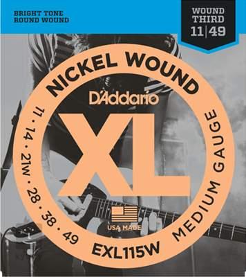 D'ADDARIO EXL115W Struny pro elektrickou kytaru