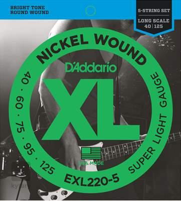 D'ADDARIO EXL220-5 Struny pro pětistrunnou baskytaru