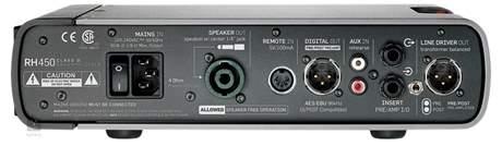 TC ELECTRONIC RH 450 (rozbalené) Baskytarový tranzistorový zesilovač