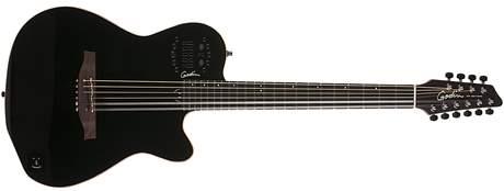 GODIN A10 Black Steel HG Elektroakustická midi kytara