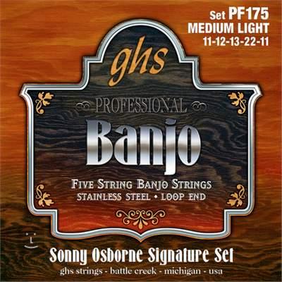 GHS PF175 Struny pro pětistrunné banjo