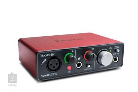 FOCUSRITE Scarlett solo USB zvuková karta
