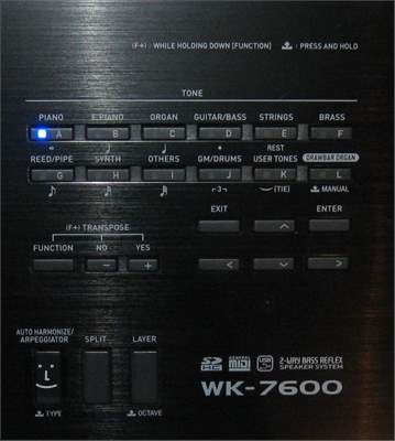 CASIO WK-7600 Klávesy s dynamikou úhozu