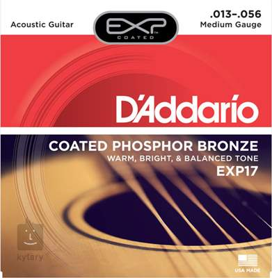 D'ADDARIO EXP17 Kovové struny pro akustickou kytaru