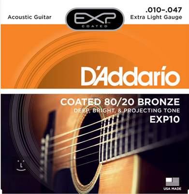 D'ADDARIO EXP10 Kovové struny pro akustickou kytaru