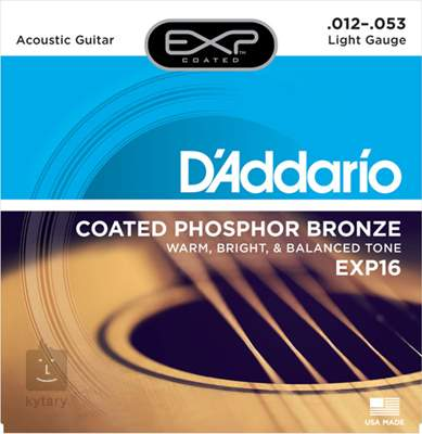 D'ADDARIO EXP16 Kovové struny pro akustickou kytaru