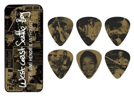 DUNLOP Jimi Hendrix Pick Tin West Coast Boy Signature trsátka