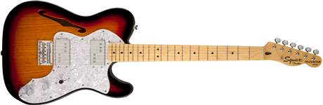 FENDER SQUIER Vintage Modified 72 Tele Thinline MN 3TS Elektrická kytara