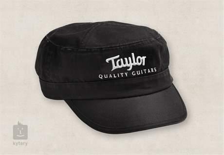 TAYLOR Military Embroidery Cap, Black Military kšiltovka