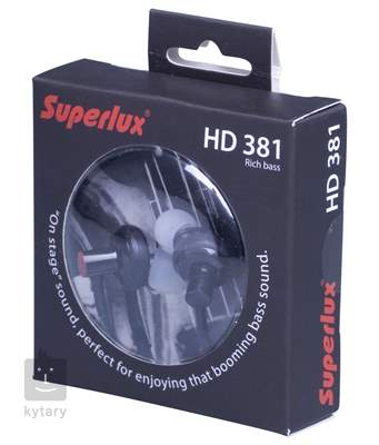 SUPERLUX HD381 In-Ear sluchátka