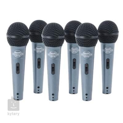 SUPERLUX ECO88S 6 pack Set mikrofonů