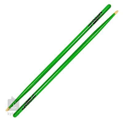 ZILDJIAN 5A Acorn Wood Neon Green Hickorové paličky