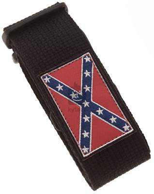 PERRI'S LEATHERS 6573 Cotton Southern Flag Kytarový popruh
