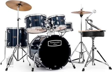TORNADO Rock set Royal blue Bicí souprava s činely