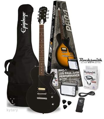 EPIPHONE PRO-1 Les Paul Junior Pack Rocksmith EB Kytarový komplet