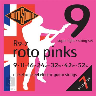 ROTOSOUND R9-7 Struny pro sedmistrunnou elektrickou kytaru