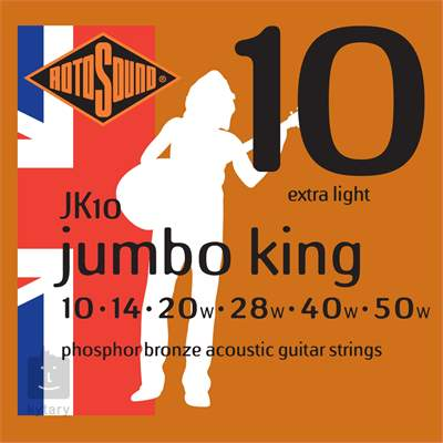 ROTOSOUND JK10 Kovové struny pro akustickou kytaru