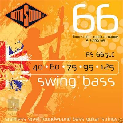 ROTOSOUND RS665LC Struny pro pětistrunnou baskytaru