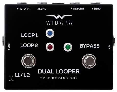 WIDARA Dual Looper Changer Black Signálový přepínač