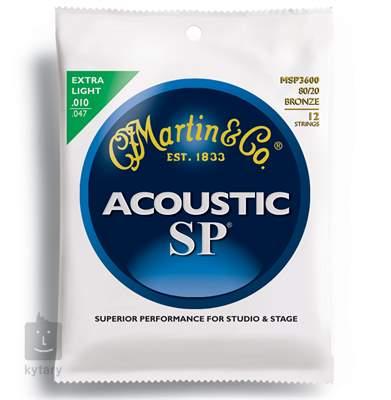 MARTIN MSP 3600 Struny pro dvanáctistrunnou kytaru