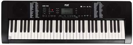 FOX 168 BK (rozbalené) Klávesy s dynamikou úhozu
