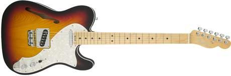 FENDER American Elite Telecaster Thinline MN 3TSB Elektrická kytara