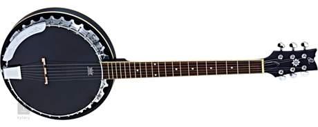ORTEGA OBJE350/6-SBK Elektroakustické banjo