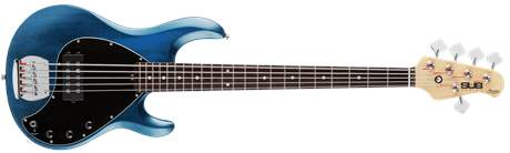 STERLING BY MUSIC MAN SUB StingRay5 Trans Blue Satin Elektrická baskytara