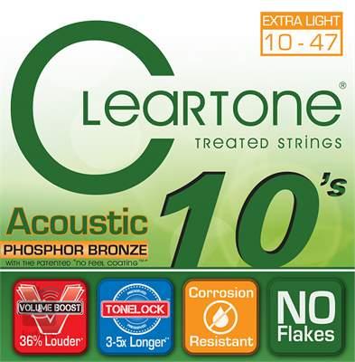 CLEARTONE 7410 Kovové struny pro akustickou kytaru