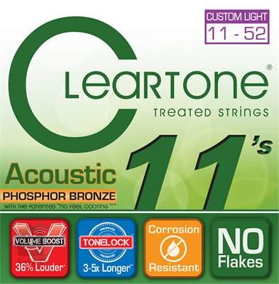 CLEARTONE 7411 Kovové struny pro akustickou kytaru
