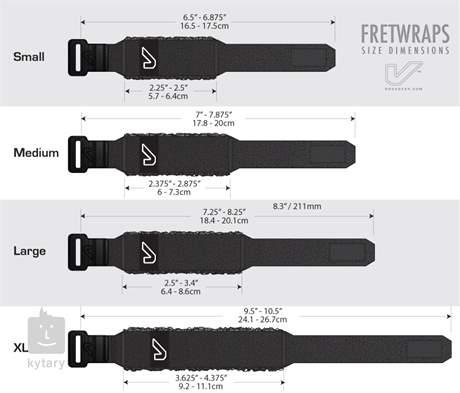 GRUVGEAR FW-1PK-BLU-XL Tlumítko strun