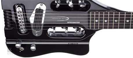 TRAVELER GUITAR Speedster Hot Rod Black V2 Cestovní kytara