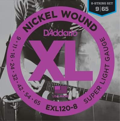 D'ADDARIO EXL120-8 Struny pro osmistrunnou elektrickou kytaru