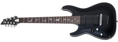 SCHECTER Damien Platinum-7 LH SBK Levoruká sedmistrunná elektrická kytara