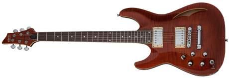 SCHECTER C-1 E/A Cats Eye LH CE Levoruká semiakustická kytara